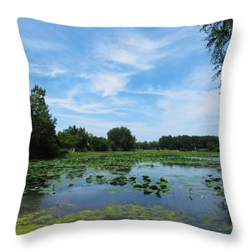 East Harbor State Park - Scenic Overlook Throw Pillow