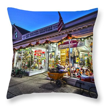 East Moriches Hardware Throw Pillow