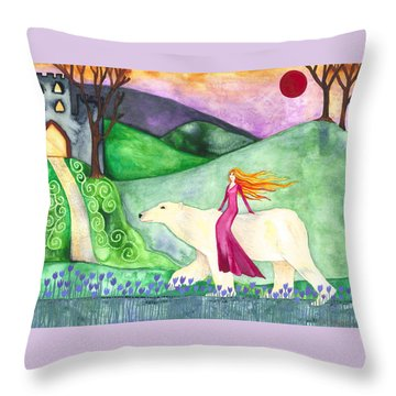 East Of The Sun And West Of The Moon Throw Pillow by Cat Athena Louise