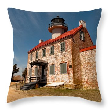 East Point In Spring Throw Pillow