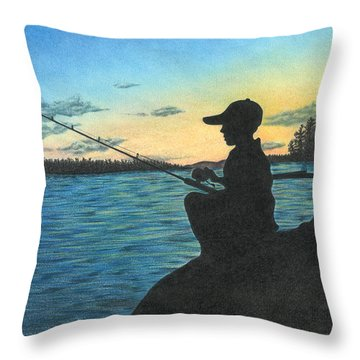East Pond Throw Pillow