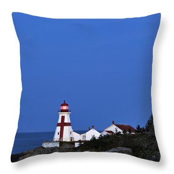 East Quoddy Lighthouse - D002160 Throw Pillow by Daniel Dempster