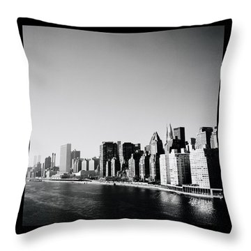 East River New York Throw Pillow by Shaun Higson