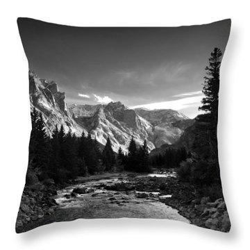 East Rosebud Canyon 7 Throw Pillow