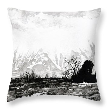 East Spanish Peak Throw Pillow by Aaron Spong