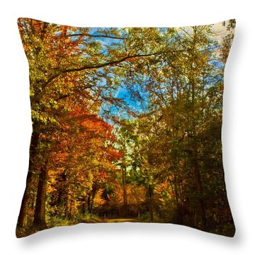 East Texas Back Roads Hdr Throw Pillow