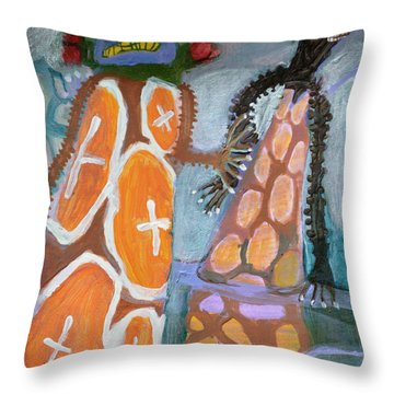 Eastanomically Nutty Throw Pillow by Nancy Mauerman
