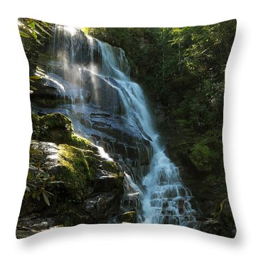 Throw Pillow featuring the photograph Eastatoe Falls North Carolina by Charles Beeler