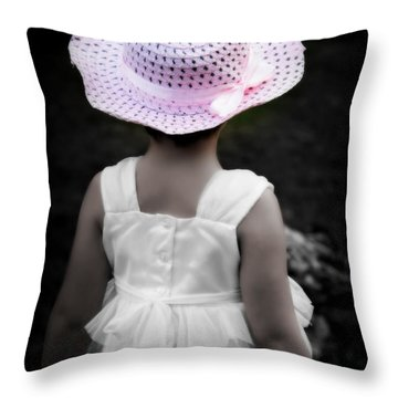 Throw Pillow featuring the photograph Easter Angel by Jeanette C Landstrom