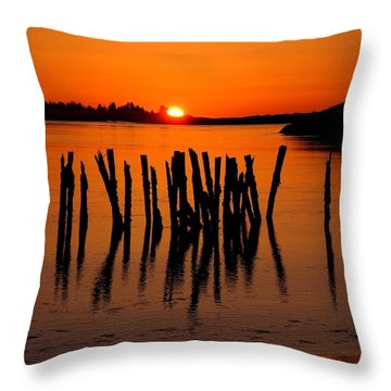 Easter At Popham Throw Pillow