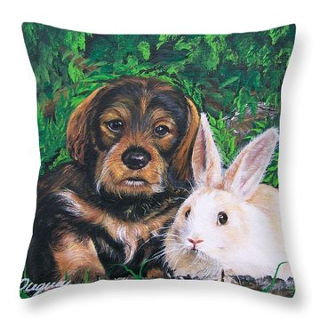 Throw Pillow featuring the painting Wonder Of Spring  by Sharon Duguay
