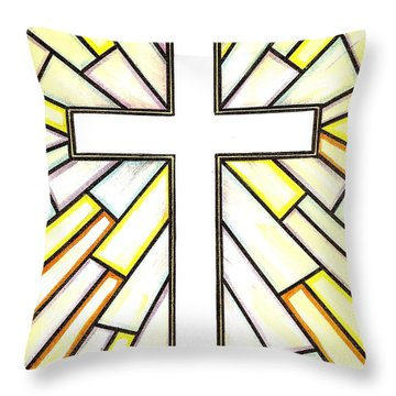 Easter Cross 3 Throw Pillow by Jim Harris