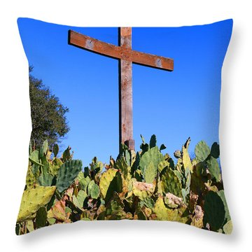 Throw Pillow featuring the photograph Easter Cross by Jeanette French