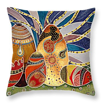 Easter Eggstravaganza Throw Pillow