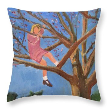 Easter In The Apple Tree Throw Pillow