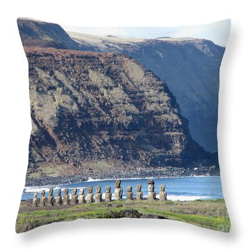Easter Island Requiem Throw Pillow