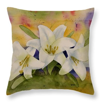 Easter Lilies Throw Pillow