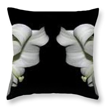 Easter Lilies Panorama Throw Pillow
