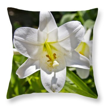 Easter Lilly 1 Throw Pillow