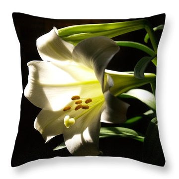Easter Lilly Throw Pillow