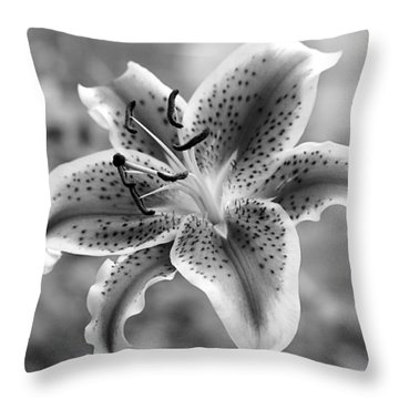 Throw Pillow featuring the photograph Easter Lily by Elizabeth Budd