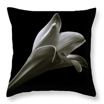 Easter Lily II Throw Pillow by Jeff Burton