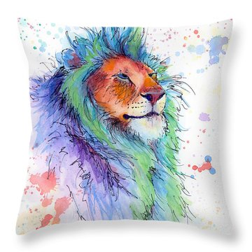 Easter Lion Throw Pillow