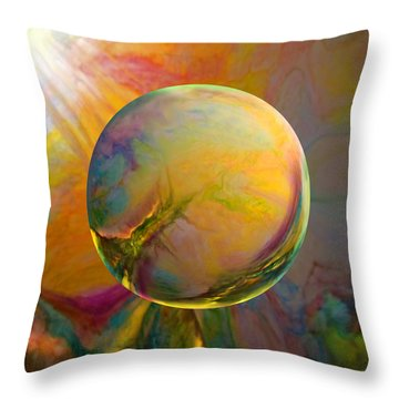 Easter Orb Throw Pillow by Robin Moline