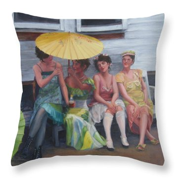 Easter Posies Throw Pillow by Connie Schaertl