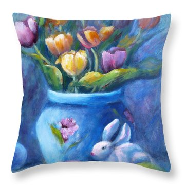 Easter Still Life Throw Pillow