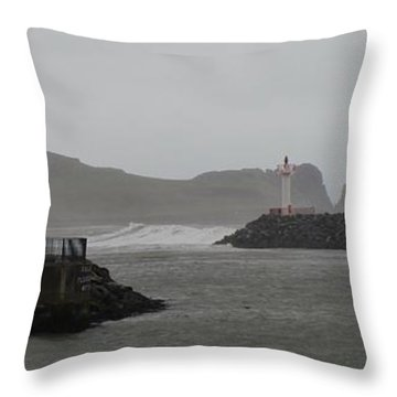 Easterly Swell Throw Pillow