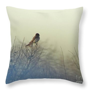Eastern Phoebe Lacassine Pool  Lacassine Nwr Throw Pillow