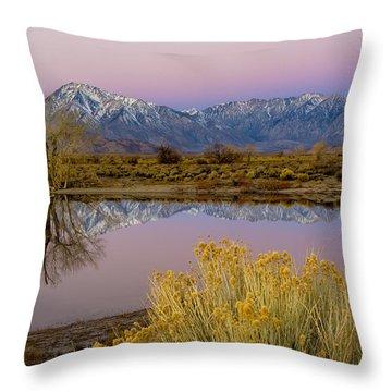 Eastern Sierra Dawn Throw Pillow by Joe Doherty