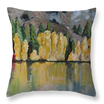 Eastern Sierra Reflections Throw Pillow
