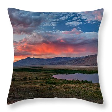 Eastern Sierra Sunset Throw Pillow