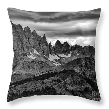 Eastern Sierras Summer Storm 2 Throw Pillow by Terry Garvin
