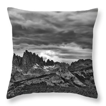 Eastern Sierras Summer Storm Throw Pillow