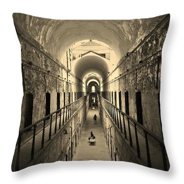 Eastern State Of Mind Throw Pillow by Robert Geary