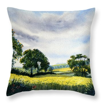 Eastfields From Woldgate Throw Pillow