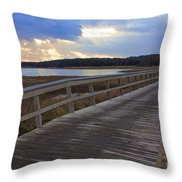 Eastham Boardwalk Throw Pillow
