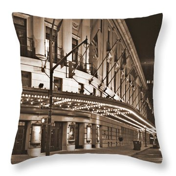 Eastman Theater Throw Pillow by Richard Engelbrecht
