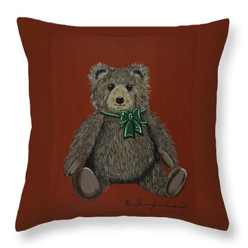 Throw Pillow featuring the painting Easton's Teddy by Jennifer Lake