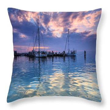 Eastport Sunrise Throw Pillow by Jennifer Casey