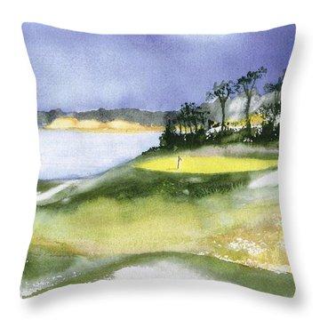 Eastward Ho Country Club Throw Pillow by Joseph Gallant
