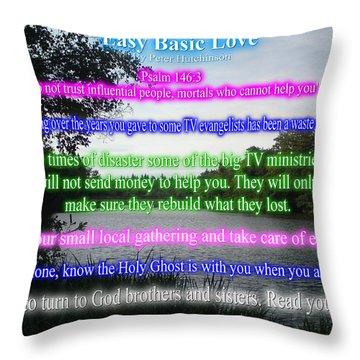 Easy Basic Love Throw Pillow