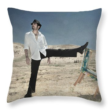 Easy Breezy Cool Throw Pillow by Laurie Search