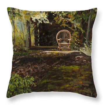 Easy Chair Throw Pillow by Carla Dabney