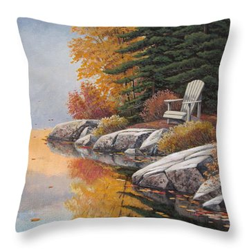 Easy Mornings Throw Pillow
