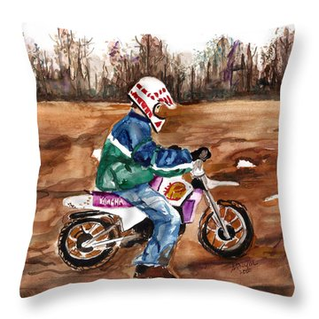 Easy Rider Throw Pillow