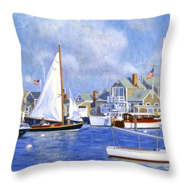 Easy Street Basin Blues Throw Pillow by Candace Lovely